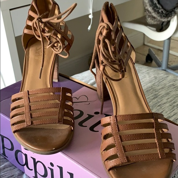 Franco Sarto Shoes - Brown Leather Heels